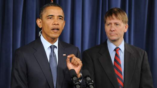 U.S. President Barack Obama Visits Consumer Financial Protection Bureau