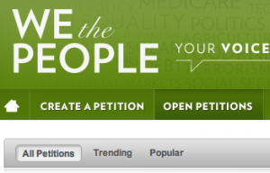 we the people petitions