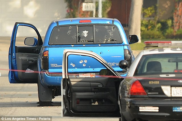 dorner blue truck