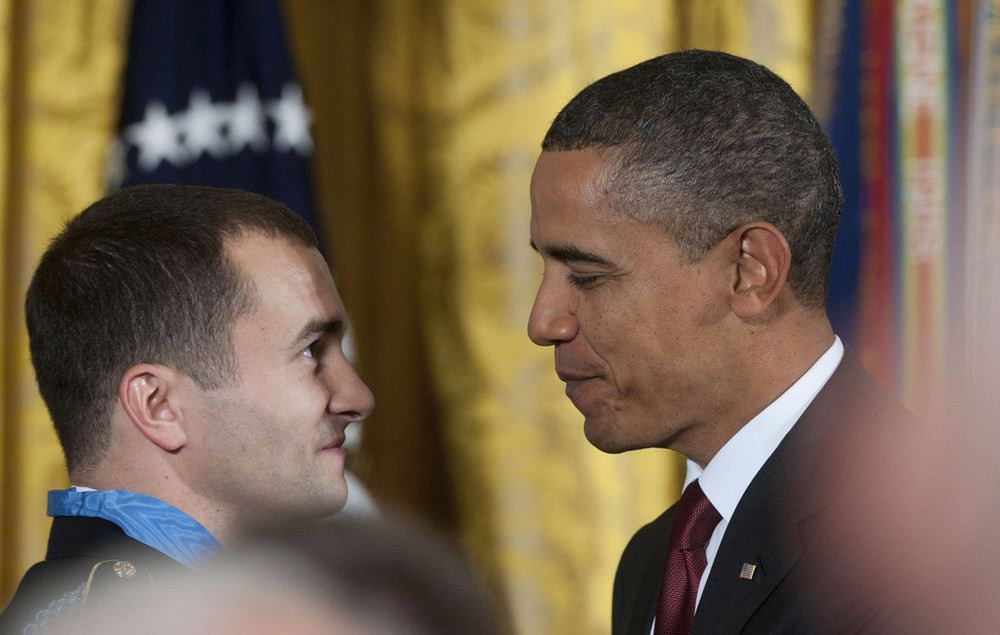 President awards Staff Sergeant Salvatore Giunta, U.S. Army, with the Medal of Honor.