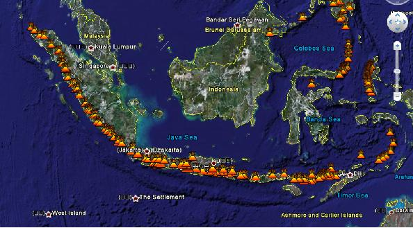 Indonesia and volcanoes in google earth the daily sheeple delivered by the daily sheeple gumiabroncs Images