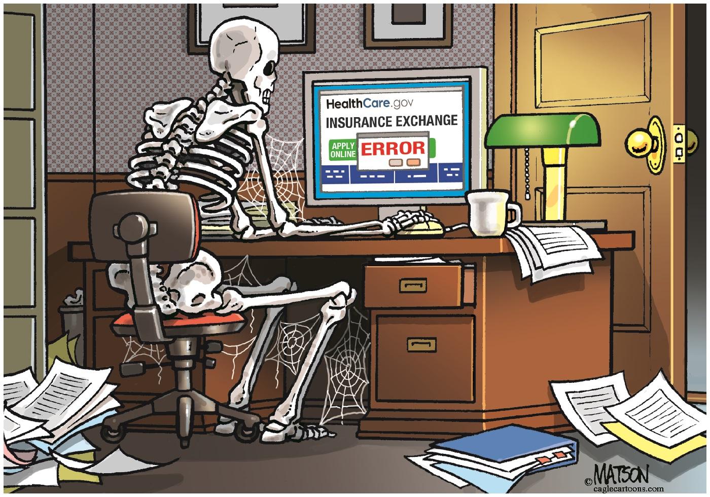 Positive obamacare political cartoons