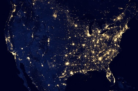 The-United-States-Of-America-At-Night-450x299