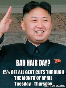 Bad Hair Day? North Korean Officials Visit London Hair Salon Over Kim Jong-un Poster In The Window