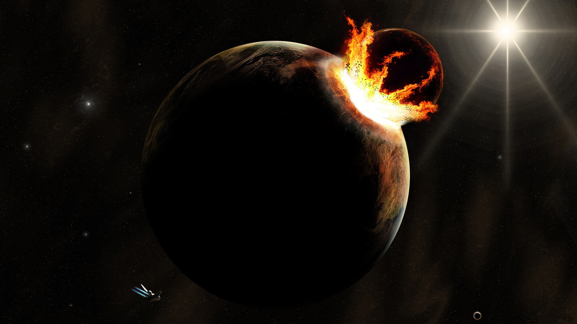 Deep-impact-Asteroid-hit-a-planet-wallpaper_6180 | The ...