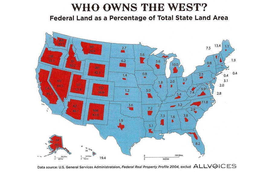 Federal Land per State