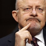 """James Clapper testifies before a Senate (Select) Intelligence hearing on """"World Wide Threats"""" on Capitol Hill in Washington"""