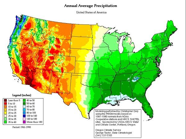 USA rainfall map | The Daily Sheeple