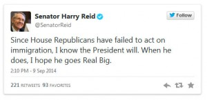 Sen. Harry Reid: When the President Acts on Immigration, I Hope He Goes 'Real Big'