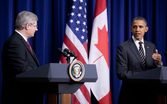 Obama Meets Stephen Harper