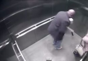 Watch: Police Officer Accidentally Shoots Himself In Elevator