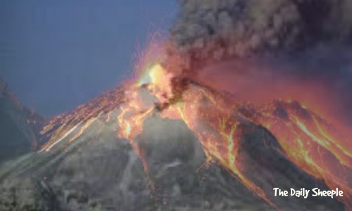 Astonishing eruption of Mexico's Colima volcano captured on webcam  Superimposed-volcano