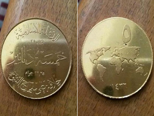 isis gold coins