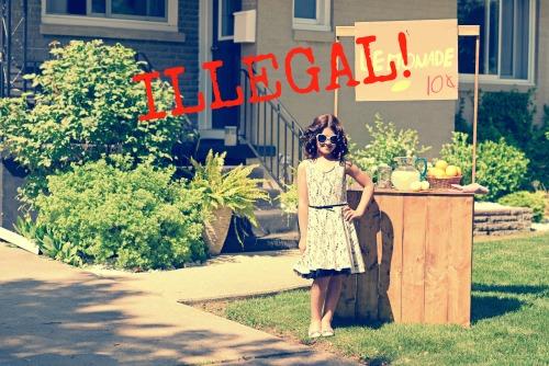 lemonade stand illegal