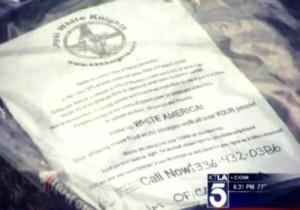 KKK Leaflets Show up on LA Lawns; Another Part of the Race War Psyop?