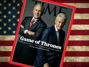"""""""Game of Thrones"""": This Week's TIME Cover with Bush and Clinton Is Telling You Who Your Dynasty Families Are, America"""