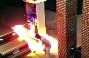 Video: Man Tries to Kill Spider on His Gas Tank While at the Gas Station WITH A LIGHTER