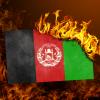 afghanistan burning flag