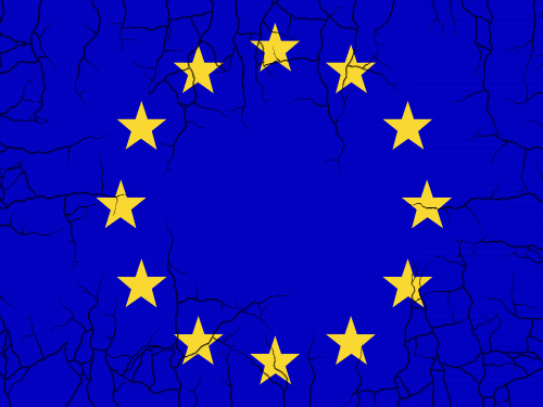 crumbling eu flag