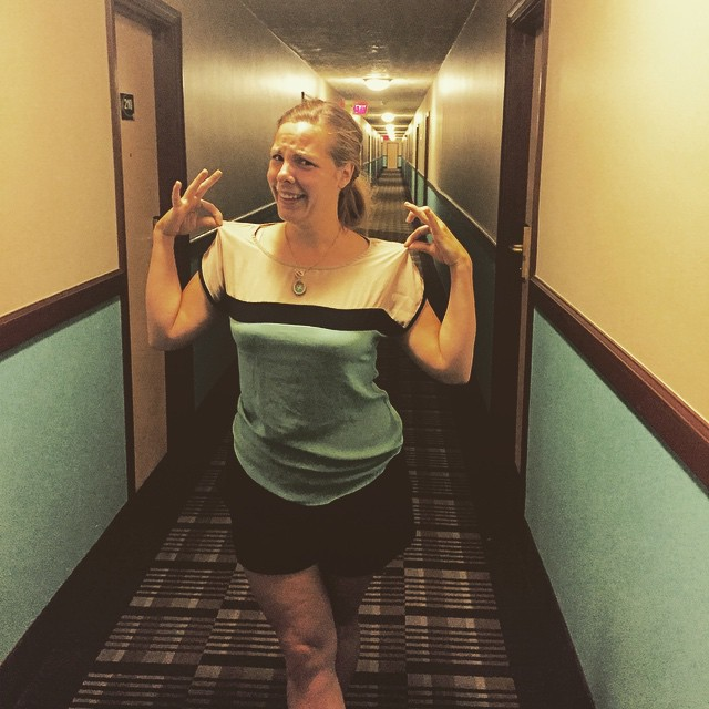 womanhotelhallway