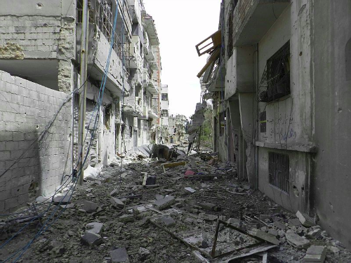 homs destruction wikimedia