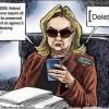 Hillary deletes