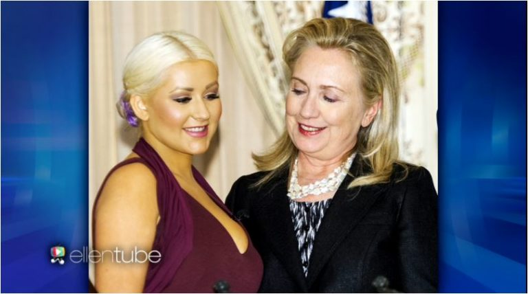 Christina-Aguilera-Hillary-Clinton