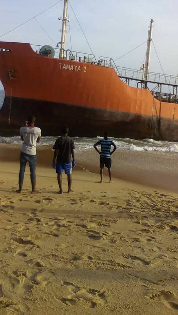Washed-Oil-Tanker-Liberia-beach