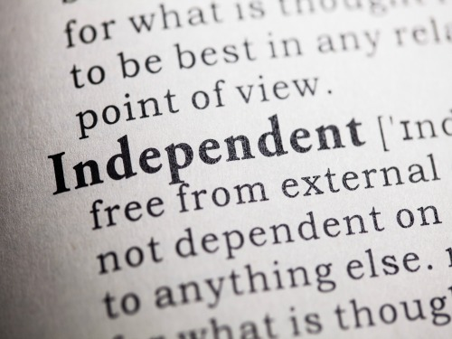 Fake Dictionary, Dictionary definition of the word independent.