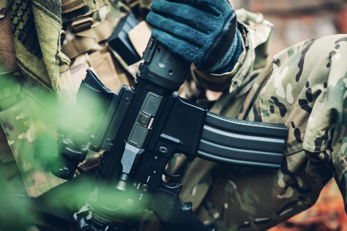 ar-15, soldier, militia