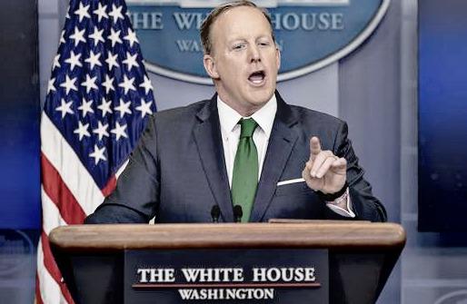 sean spicer green tie
