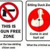 gun free sign