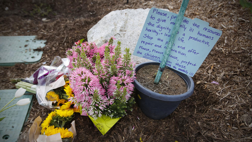 A growing memorial for the deceased teenager. Photo Credit: San Diego Union Tribune