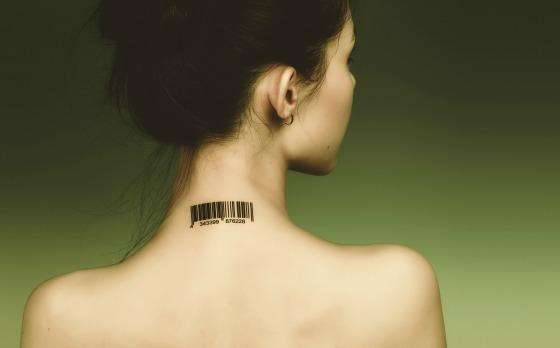 woman barcode slave