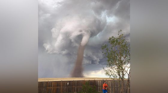 tornado in backyard