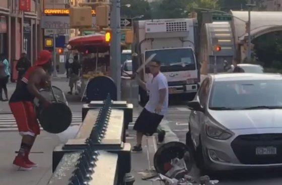 machete vs trash can