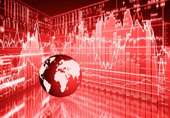 stock market concept , stock market crash