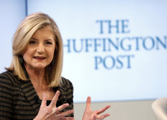Arianna Huffington, president and Editor-in-Chief of The Huffington Post Media Group attends a session at the World Economic Forum (WEF) in Davos January 25, 2014. REUTERS/Denis Balibouse (SWITZERLAND - Tags: POLITICS BUSINESS)