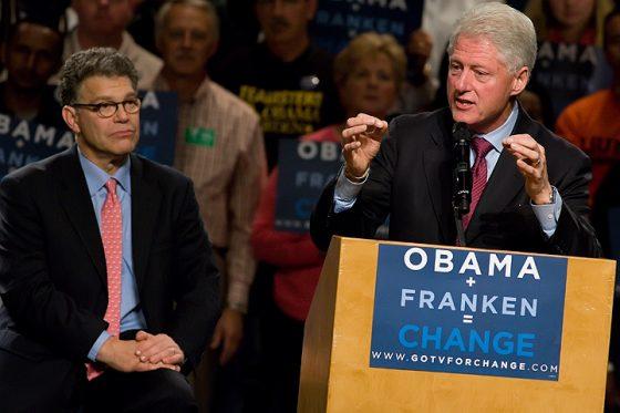 Bill-Clinton-And-Al-Franken-Wikimedia-Commons