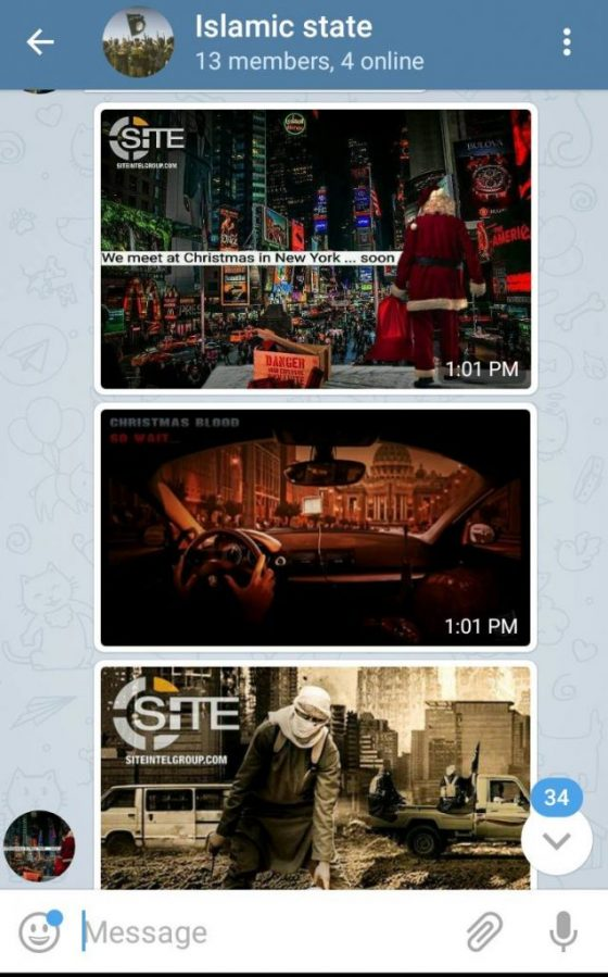 These screen captures were taken two days before the attack in New York.