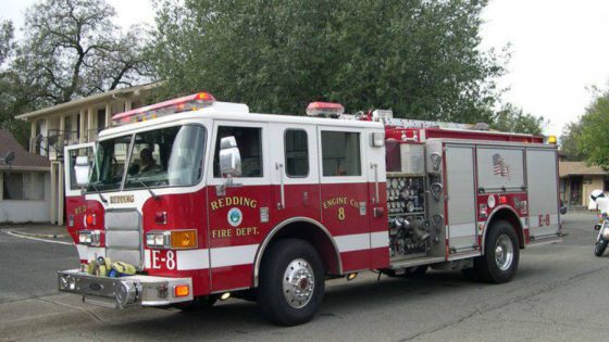 California fire truck