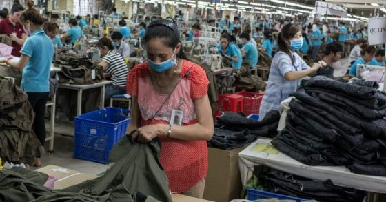 poor garment factory workers