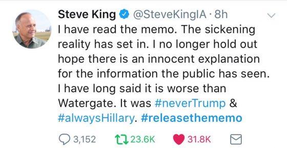 Release-The-Memo-Steve-King-Tweet